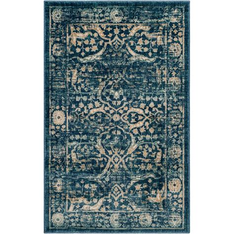 3 ft rug safavieh evoke navy beige 3 ft x 5 ft area rug evk512d 3