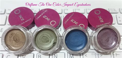 Eyeshadow The One Oriflame oriflame the one color impact eyeshadows review and