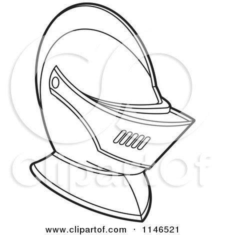 knight helmet coloring page clipart of a black and white armour knights helmet