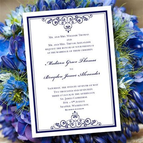 Free Navy Blue Wedding Invitation Templates Matik For Navy Blue Wedding Invitation Templates