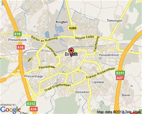 breda netherlands on map breda netherlands
