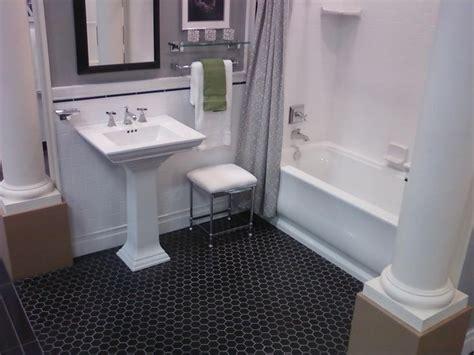 black floor bathroom ideas 17 best images about black hexagon floor on pinterest