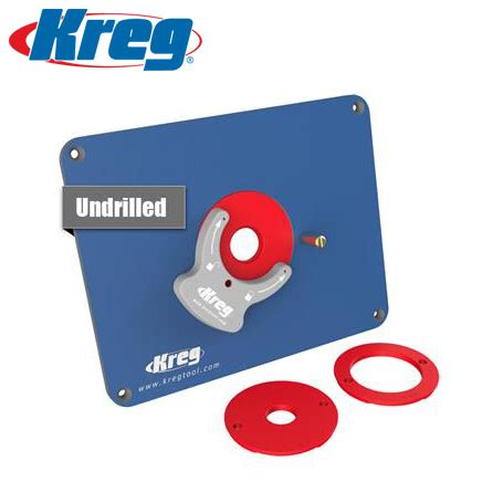 kreg precision router table insert plate undrilled