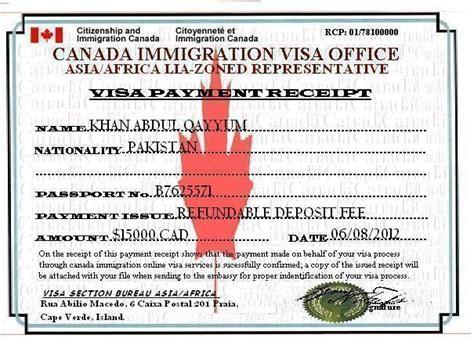 Offer Letter For Visa Canada Canada Immigration Visa Bureau Asia Africa Zoned Representative Visa And Money