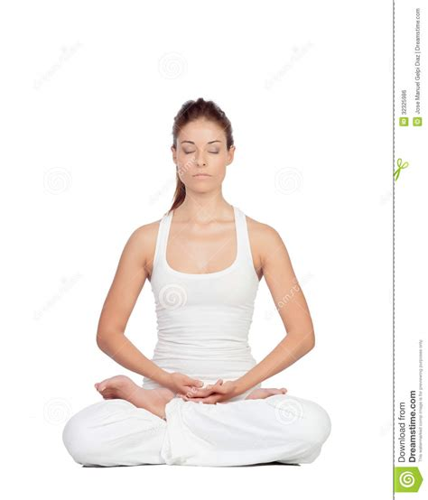 imagenes yoga mujer mujer hermosa que hace yoga imagen de archivo libre de