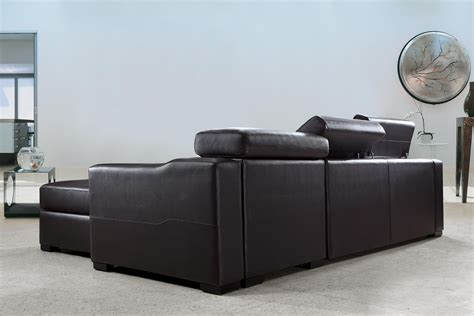 Espresso Sectional Sofa by Flip Reversible Espresso Leather Sectional Sofa Bed W Storage