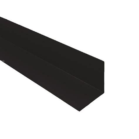 pack black upvc plastic rigid angle mm  mm