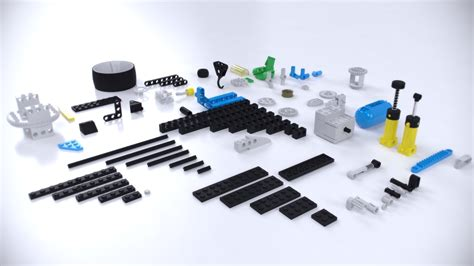 Lego Technic Pieces By Alexcom 3docean