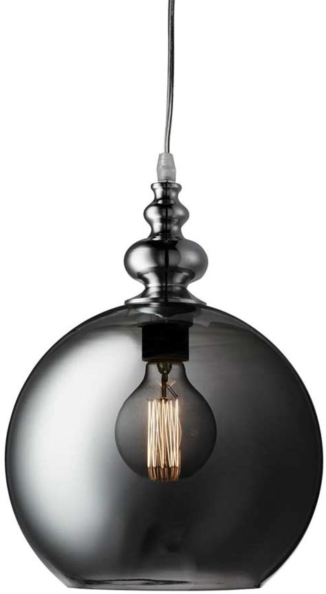 smokey glass pendant light indiana dimpled smoked glass pendant light polished chrome