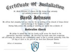 Installation Certificate Template Ordination Certificates For Your Church