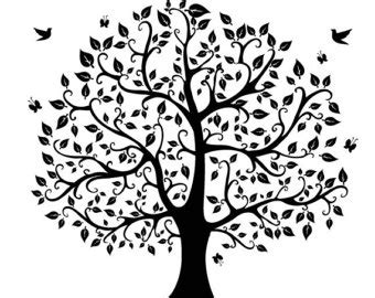 Cute Trees by Tree Silhouette Digital Clipart Vector Eps Png Files Clip Art