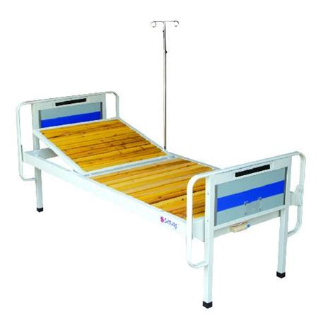 Adjustable Hospital Beds by Single Crank Adjustable Hospital Beds With Wooden Batten