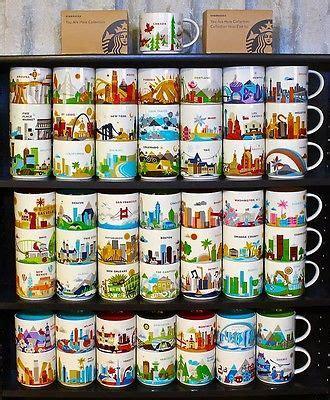 starbucks disney complete set mugs you are here how to collect starbucks you are here and city mugs ebay