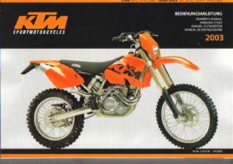 Ktm 450 Exc Change 2003 Ktm 250 Exc Racing 450 525 Sx Exc Mxc Racing