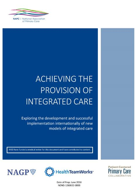 Bsn Mba Mph by Achieving The Provision Of Integrated Care Healthteamworks
