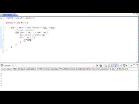 java pattern line break java break and continue commands tutorial youtube