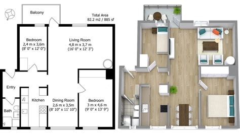 2 bedroom floor plans roomsketcher roomsketcher pro create professional floor plans and