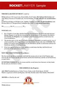 tenants in common agreement template declaration of trust tenants in common agreement deed