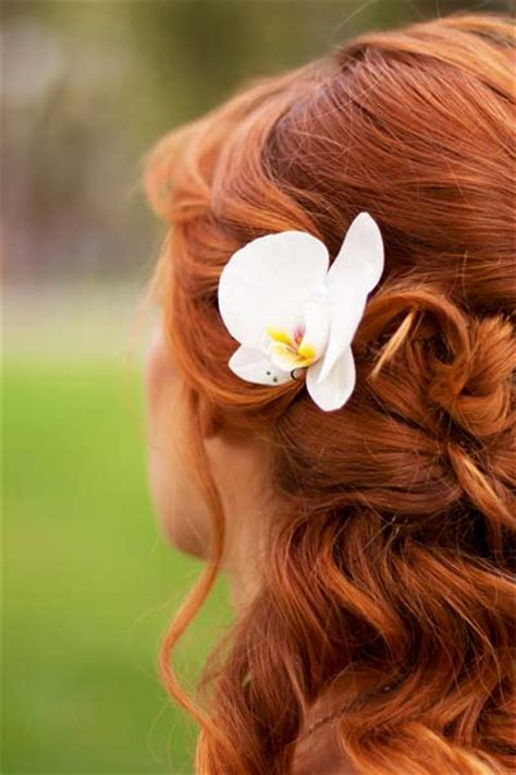 Wedding Hairstyles With Orchids by Lavender Belles Hair