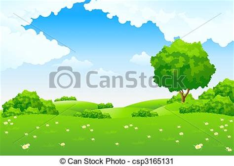 Rumah Pohon Paw Patrol Big Tree clipart of green landscape with road trees and clouds