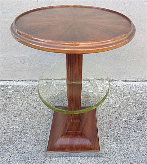 Mixed Shelf Offering by Deco Oval Occasional Table With Floating Glass Shelf