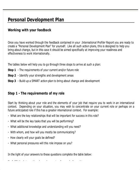 developing a business plan template personal business plan templates 6 free word pdf