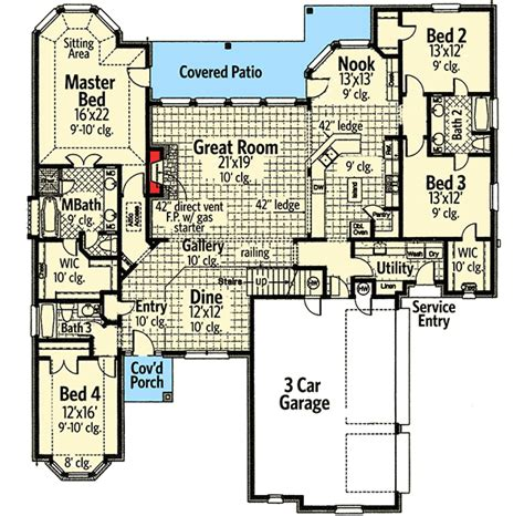 master retreat floor plans master retreat 48199fm architectural designs house plans