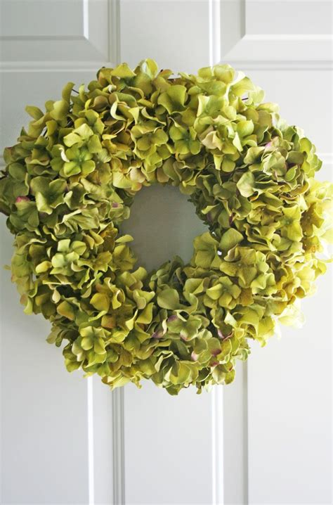 large hydrangea door wreaths diy hydrangea wreath i am so excited about this find i m