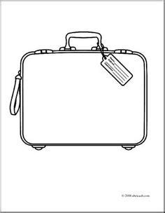 blank suitcase template suitcase pattern use the printable outline for crafts