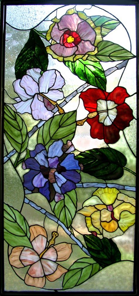flower pattern glass hibiscus window by kelley studios where to i get one and