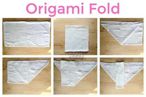 Origami Nappy - cloth revival favorite folds for flat cloth diapers