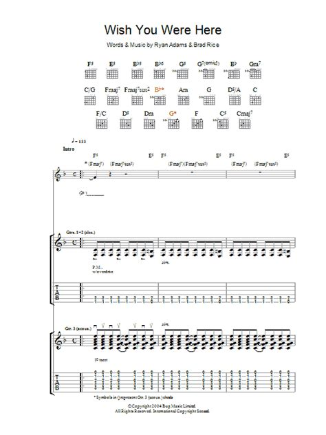 Wish You Were Here Guitar Chords