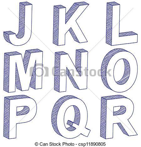 comment dessiner lettres 3d
