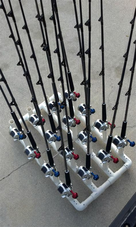 How To Build A Fishing Pole Rack by Pvc Fishing Rod Holder Ideas Fishing Rod Holder