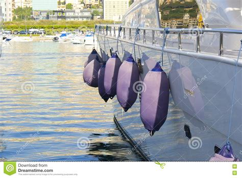 hanging boat bumpers boat bumpers royalty free stock image image 14442626