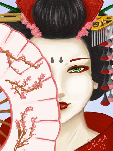 japanese geisha drawings geisha by swevenzre on deviantart