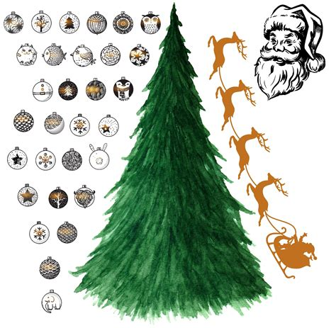 Self Adhesive Wall Decoration Sticker removable peel amp stick christmas tree wall sticker