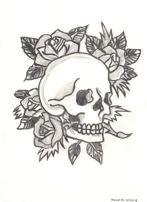 ed hardy skull tattoo designs ed hardy skull and roses by flowerphantom on deviantart