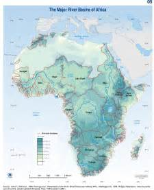 map of rivers river basins of africa