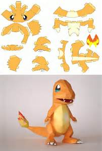 Charmander Papercraft - gotta craft em all