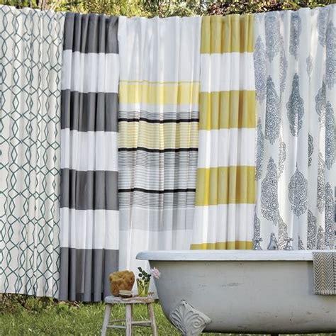 Yellow Gray Curtains Inspiration Grey Yellow Shower Curtain Bathroom Pinterest