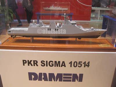 Cat Kapal Sigma Utama alutsista alat utama sistem senjata kapal patroli kawal rudal 105m pkr sigma 10514