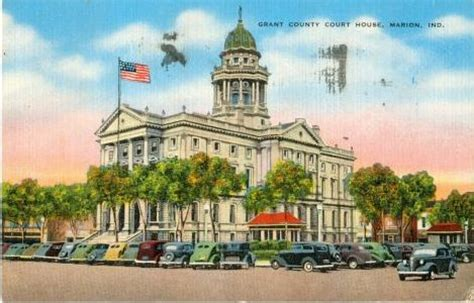 Marion County Indiana Court Search 1940s Linen Postcard Grant County Court House Marion Indiana Ebay