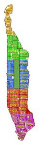 Manhattan Zip Code Map by Manhattan Zip Code