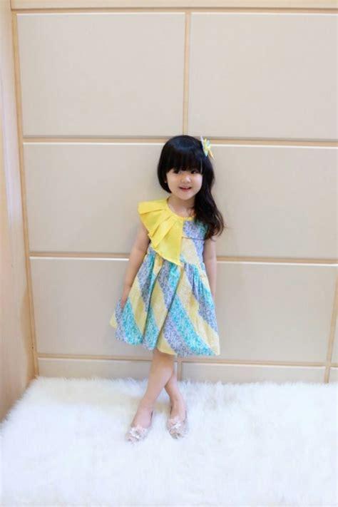Dress Anak2 Perempuan jual baju batik pesta anak perempuan anggun modern
