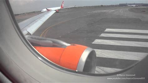 interno aereo easyjet fco vce easyjet a319 take from rome fiumicino hd