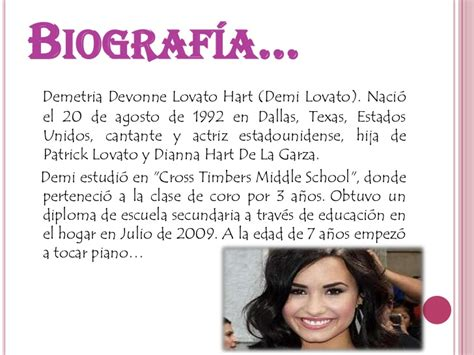 Biography En Ingles De Demi Lovato | biograf 237 a demi lovato