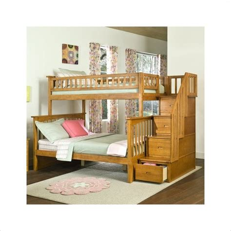 solid wood bunk beds twin over full solid wood twin over full bunk bed in caramel finish