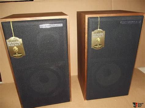 Vintage American Acoustics D3550e Box Pair Of American Acoustics Labs Aal Classic Series 108 Speakers With Original Box Photo 1070175