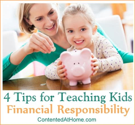 8 Tips On Teaching Your Financial Responsibility by 4 Tips For Teaching Your Financial Responsibility